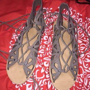 Shoes - Tie up sandals